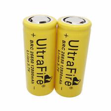 Batería 2PCS 26650 12800mAh 3.7V Li-ion recargable de baterías para Linterna UK