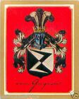 Heinrich Baron von Gagern Germany Armoiries Coat of Arms IMAGE CHROMO 30s