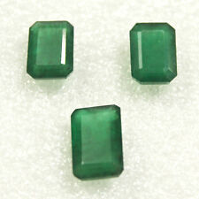 Finest quality Rare Certified Natural Brazilian Emerald Octagon 3pcs Set 17.20ct