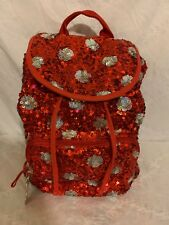 DISNEY PARKS MINNIE MOUSE POLKA DOTS SEQUINED RED BACKPACK