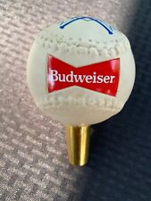"Budweiser Baseball Ball Softball Dugout 5"" Beer Keg Tap Handle"
