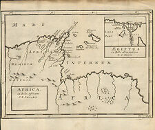 1719 map of africa . ex bello .africano c.i. caesaris . from a publication