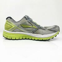 Brooks Mens Ghost 8 1101981D029 Gray Lime Running Shoes Lace Up Low Top Size 9 D