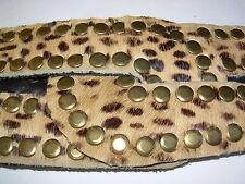 Vintage Sandcastle N.Y. Belt Bronze Studded Snap Closure Leopard print