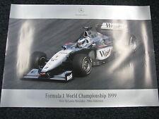 Poster West McLaren-Mercedes MP4-14 1999 #1 Mika Hakkinen World Champion F1 (JS)
