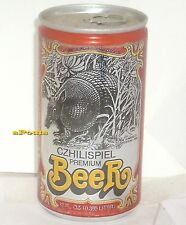 1980 CZHILISPIEL SHINER,TEXAS ARMADILLO BEER CAN FLOTONIA PRIVATE STOCK SPOETZL
