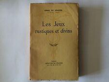 LES JEUX RUSTIQUES ET DIVINS 1941 HENRI DE REGNIER