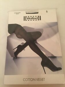 Wolford Tights Cotton Velvet Tights, Cotton, New Boxed size Small 10-12/
