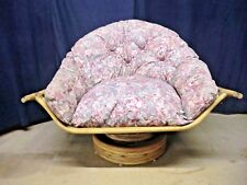 King Size Swivel Cane Chairs - Natural Finish, Collection Only! Great Quality!