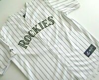 Mens Large Colorado Rockies MLB Authentic Majestic Dexter Fowler 24 Jersey poly