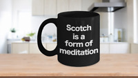 Scotch Mug Black Coffee Cup Funny Gift for Dad, Birthday, Whiskey, Bourbon,