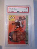 1955 JIM ROBERTSON #177 TOPPS BASEBALL CARD - PSA GRADED 4 - BOX CC