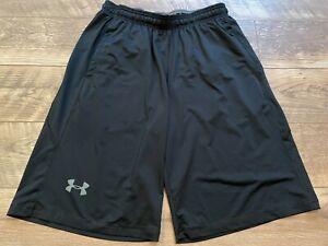 UNDER ARMOUR heatGEAR Loose Black Gym crossFIT Athletic Training Shorts mens L