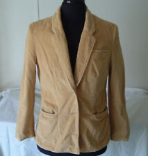 Vintage gold corduroy blazer jacket size 16  junior style picket and post brand