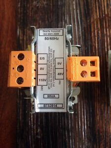 Step Up Electrical Transformer Input 48V Input 110V 50VA Panel Mounted Brand New