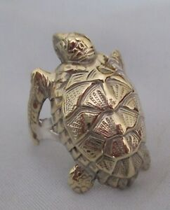 """STERLING SILVER RING.CLASSIC DETAILED SEA TURTLE. SIZE  """" R  """""""