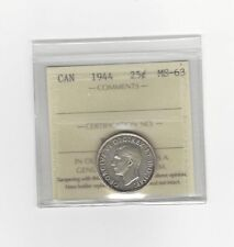 **1944** ICCS Graded Canadian, 25 Cent, **MS-63**
