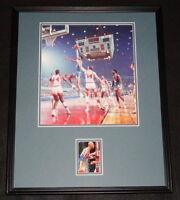 Kareem Abdul Jabbar UCLA Signed Framed 16x20 Photo Display JSA Lakers