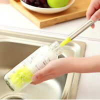 Kitchen Handle Sponge Long Brush Bottle Cup Glass Washing Cleaning Cleaner Tool