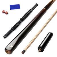 57 Inch 11.5mm Tip 3/4 Jointed Cues Pool Snooker Cue Handmade Ash 19oz JYBC01