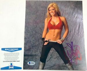 Impact Wrestling Knockout Madison Rayne Autographed 8X10 Photo Signed BAS COA