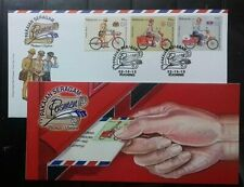 MALAYSIA 2012 POSTMAN UNIFORM STAMPS FDC WITH BROCHURE