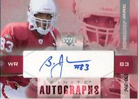 Bryant Johnson Autographed 2003 Upper Deck Card