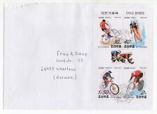 2001 KOREA First Day Cover CYCLING SGMSN4172 Mini Sheet SCHORTENS GERMANY Sports