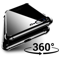 360 ShockProof Hybrid Clear Case Tempered Glass Front Cover for Apple iPhone X