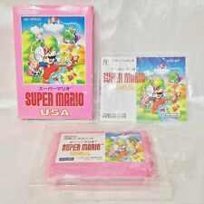 SUPER MARIO USA with BOX and MANUAL Nintendo nes famicom japan version
