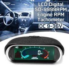 Auto Car LCD 50-9999RPM Tachometer Digital Engine Tach Gauge Boat Truck Van New