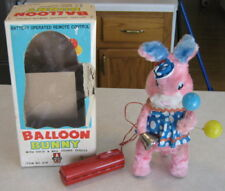 """1960's Battery Operated 11"""" Balloon Bunny Japan """"Y"""" Co Boxed Works"""