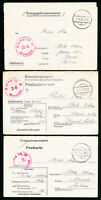 Germany 1940 War Time Stamp Cover War time folded letters. Group of 3. VF.