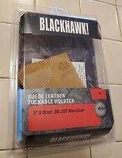 "Blackhawk! 01 RH Suede Leather Tuckable Holster 2"" Revolver J Frame FREE SHIP"