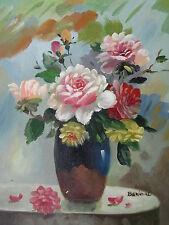 "Newport Flowers Original Hand Painted 8""x10"" Oil Painting Floral Art"