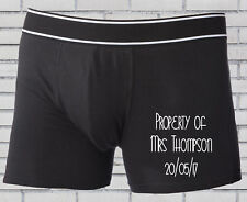 Personalised groom wedding boxer shorts