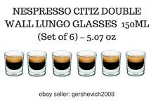 BRAND NEW NESPRESSO CITIZ DOUBLE WALL LUNGO GLASSES  150ML (Set of 6) – 5.07oz