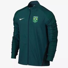 Men's Nike Flex Olympic Team Brasil Brazil Running Jacket Large green 807485 346