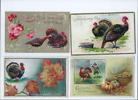 Antique Thanksgiving Postcards Lot of 4 Tuck Goldie and Others Unit B