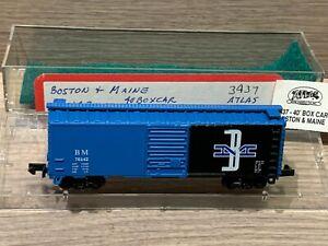 N Scale Atlas Boston & Maine 40' Boxcar 3437 B&M 74142