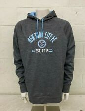 Fanatics MLS New York City FC Gray Pullover Hoodie Men's Large NEW Fast Shipping
