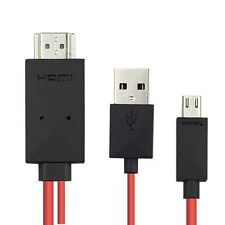 2M MHL Micro USB to HDMI Cable TV Out Lead 1080p for HTC One Sony Xperia LG UK