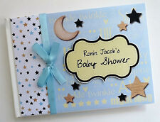 TWINKLE TWINKLE LITTLE STAR BABY SHOWER BOY GUEST BOOK - ANY DESIGN