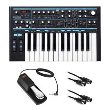 Novation Bass Station II Monophonic Synthesizer w/ Sustain Pedal & MIDI Cable