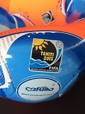 ADIDAS BEACH SOCCER Cafusa Ball MATCH BALL FIFA WORLD CUP NUOVO 2013 WC logo patch Praia