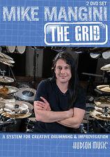MIKE MANGINI THE GRID CREATIVE DRUMMING & IMPROVISATION DRUM LESSON 2 DVD SET