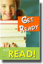 Get Ready to Read - Books Library Reading - Classroom Library School POSTER