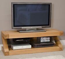 Z solid oak designer furniture plasma television cabinet stand unit