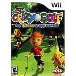 Kids Kidz Sports Crazy Golf 72 Holes Nintendo Wii New factory sealed
