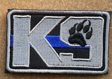 K9 Thin Blue Line Police Military U.S. Army Morale Badge Embroidered Hook Patch
